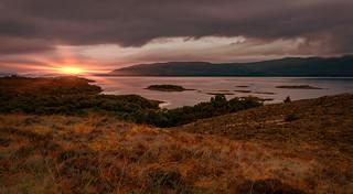 A highland sunset