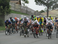 Bike race is on. (marsh_maureen) Tags: commonwealthgames racing bikes people cyclists cycling elanora goldcoast