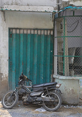 tran hung dao alleys, saigon (bobinskiii) Tags: vietnam asia asian southeastasia southeastasian saigon hochiminhcity hcmc city cities urban tranhungdao alley alleys road roads street streets backstreet motor motorbike motorbikes bike bikes green grey transport transportation door doors concertina concertinadoor folding foldingdoor