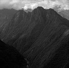 Along the Inca Trail, Peru (austin granger) Tags: peru inca incatrail valley machupicchu geology geography weathered mountains jungle trek square film gf670 urubamba