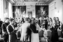 Wedding day for A&A (Polcaroid) Tags: wedding mariage paris france noiretblanc monochrome weddingphotography happiness