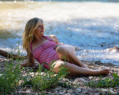 Lazy Day on the River (Laveen Photography (aka cyclist451)) Tags: az arizona douglaslsmith jerome jeromeartcenter laveenphotography phoenix sueberosh verderiver cyclist451 fashion model modeling muse photograph photographer photography wwwlaveenphotographycom sueberose