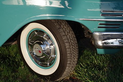 Detailed Look At 1960 Chevy Impala (Joey Z1) Tags: 1960chevyimpala 60impala whitewalltires sola starsstripescelebration classiccar portoflosangeles portofla pola starsstripesportofla coolride 60dcar polychromatic pentaxks1 bylaphotolaureatejoeyzanotti