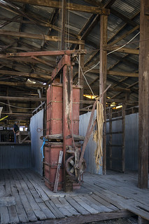 Side View of Wool Press