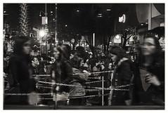 . . . (oscarinn) Tags: mexico df mexicocity ghosts monochrome blackandwhite night nocturne insomnia blancoynegro fila cue lights blurred zombies