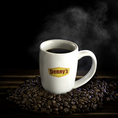 024693763451-101-Steaming Denny's Coffee Cup-4-1x1 (Jim There's things half in shadow and in light) Tags: america canon5dmarkiv dennys drink foodanddrink logo places tamronsp90mmf28dimacro11vcusd usa advertising coffee coffeebean cream cup drop food mug
