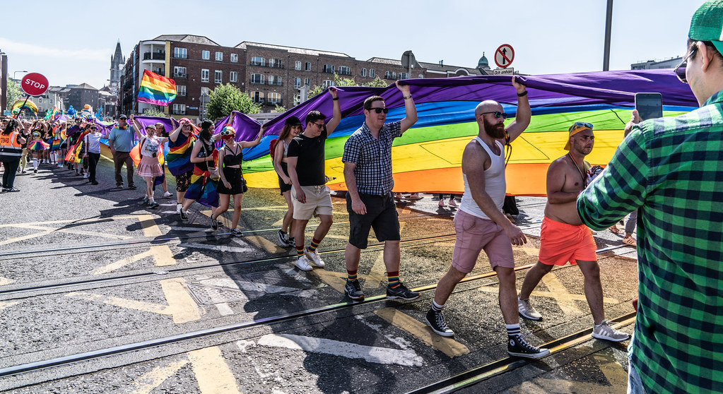ABOUT SIXTY THOUSAND TOOK PART IN THE DUBLIN LGBTI+ PARADE TODAY[ SATURDAY 30 JUNE 2018] X-100047