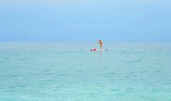 paddler (poludziber1) Tags: summer sky sea people travel sirolo marche beach blue italy italia