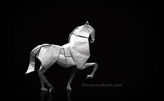 Origami horse by Himanshu for Harper's Bazaar India (Himanshu (Mumbai, India)) Tags: origami horse himanshu mumbai india harpers bazaar bazaarindia white animal ikigai orukami origamihim himanshuorigami