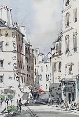 Paris - view from the steps of Saint-Étienne-du-Mont (alexhillkurtzart) Tags: watercolor sketch urbansketch usk paris