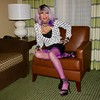 Cortney - The Purple look --  Lavender wig and purple nylons.... Sitting unladylike back at the Hotel (Cortney10100) Tags: purple lavender anderson cortney black people nails thigh stilettos crossdresser crossdress transvestite transsexual trannie tranny femme highheels heels transgender tgurl tgirl tg tv red m2f mtf transvista cd feminized xdresser