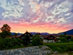 Fiery sunrise over Kiefersfelden, Bavaria, Germany (UweBKK (α 77 on )) Tags: fire fiery burn burning sunrise sun sky clouds light morning kiefersfelden bavaria bayern germany deutschland europe europa iphone