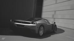 Ferrari Enzo (Matze H.) Tags: ferrari enzo gt sport gran turismo black white chrome wallpaper screenshot render 4k uhd