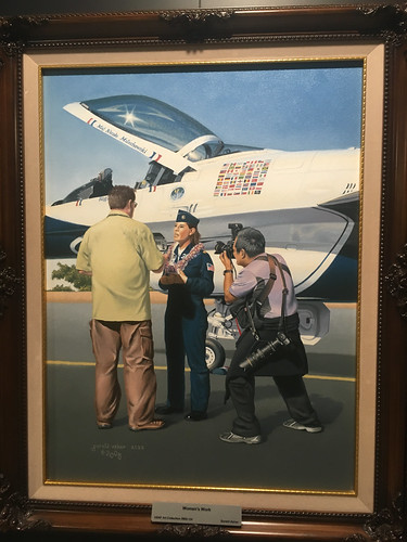 Col. Nicole 'FiFi' Malachowski painting: the first female Thunderbirds pilot