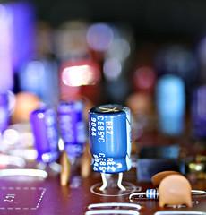 2018 Macro Mondays: Inside Electronics (dominotic) Tags: 2018 macromondays insideelectronics blue sydney australia