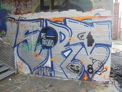 pre- odierno (en-ri) Tags: srt afk crew blu argento arrow torino wall muro graffiti writing parco dora