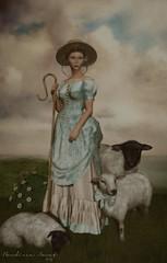 BA- baa (~ ℬoudicca ~) Tags: ©2018boudiccaamatallrightsreserved secondlife secondlifeavatar avatar virtualworld digitalart 3d digital windlight blackdragon maitreya lelutka female fantasy belleepoque jian portrait sheep