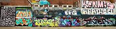 graffiti in Amsterdam (wojofoto) Tags: amsterdam nederland netherland holland ndsm legalwall hof halloffame wojofoto wolfgangjosten graffiti streetart