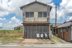 A light wind. (Yasuyuki Oomagari) Tags: 田舎の風景 drying street country rural facade breeze wind nikon d810 zeiss distagont225 japan kyushu fukuoka 日本 九州 福岡 田舎