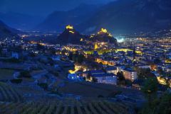 Sion Day and Night (hapulcu) Tags: ch rhone schweiz seduno sion sitten suisse suiza svizzera switzerland valais wallis automne autumn autunno herbst høst toamna vineyard