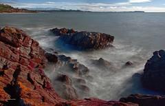 Cooee waves (explore) (taszee63) Tags: tasmania panorama coast longexposure water waves rocks bassstrait