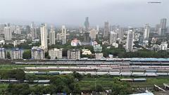 Mumbai Bird eye view (Satish Madivale) Tags: dadar mumbai matunga indianrailways birdeyeview train railroad