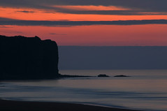 Last rays (jeangrgoire_marin) Tags: normandy normandie sunset twilight sea seascape cliffs water calm peaceful zen longexposure