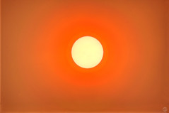 Sun and Smoke (splinx1) Tags: sun smoke fire cranstonfire mirrorlens cambron500mm pentaxkx hdr solar sunscreen photomatixpro contrejour solardisk sunspot