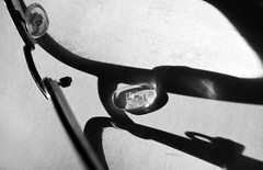 Busted and dirty (OzzRod) Tags: pentax k1 smcpentaxdfa50mmf28 monochrome blackandwhite spectacles shadows macro broken dailyinjuly2018