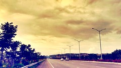 As always, beautiful monsoon - beautiful Hyderabad (Captured by Bachi) Tags: beautiful lovelife bests traveller travel photo photography new me bestshot season rainy clouds monsoon roads expressway orr india hyderabad