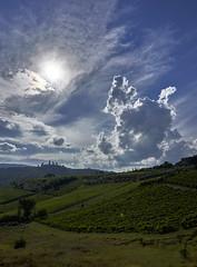 Dramatic sky (hbothmann) Tags: sangimignano toskana italien loxia2821 loxia tuscany toscana gegenlicht contrejour controluce 逆光 剪影 hendrickbothmann