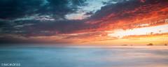 End of the Day (Nick Kanta) Tags: clouds color d90 humbugmountain le longexposure nikon ocean oregon oregoncoast outdoorphotography pano panoramic rocks sand seastacks sky sunset surf tamron1750 water