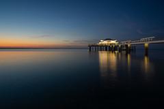 Timmendorfer Strand (Ostsee) (..::|[ retr0 '74 ]|::..) Tags: teehaus timmendorfer strand blaue stunde blue hour nachtaufnahme langzeitbelichtung sony a6000 samyang 12mm f20 ostsee