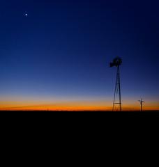 Te Awa Trinity (ajecaldwell11) Tags: sunrise ankh dawn winery moon xe2 orange light hawkesbay silhouette gimlettgravels sky windmill newzealand caldwell teawa fujifilm