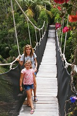 bridge in the jungle :) (green_lover (I wait for your COMMENTS!)) Tags: bridge people martynka daughtter me junglepark tenerife canaryislands spain girl vanishingpoint travels