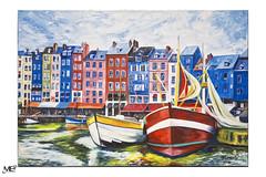 Honfleur  LM+35 1006359 (mich53 - thank you for your comments and 5M view) Tags: peintre tableau art artiste honfleur bateaux portrait leicamtype240 summiluxm35mmf14asph exposition normandie normandy paysage harbor