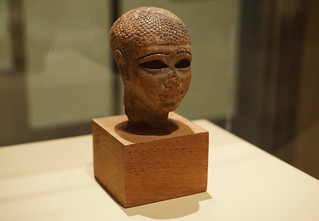 Head of a female figure (ca 2021-2000 B. C.) from Thebes, tomb of Khety - Metropolitan Museum of Art, NYC