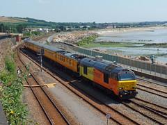 67027 & 67023 Penzance (1) (Marky7890) Tags: networkrail 67023 67027 class67 1q18 penzance railway cornwall cornishmainline train