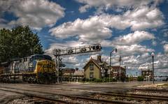 It's not often (builder24car) Tags: railfanning benchingthefreights locomotive sky happylittleclouds csx csx404 ac44cw railroadhouse sline sanfordnorthcarolina