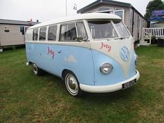 1959 VW Split Screen Camper (occama) Tags: 109uyl vw volkswagen camper old van cornwall uk ivey 1959 blue kombi