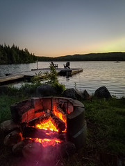 Majestic Megantic (of Space and Time) Tags: lake summer fire camp camping nature night sunset travel water beautiful landscape
