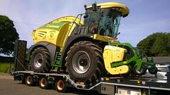 "Grassmen Scania 164 ""Eva Rose"" and Krone Forage Harvester (nathanlawrence785) Tags: grassmen krone scania 164 eva rose low loader antrim county northern ireland ulster truck farm"