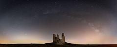 caudilla-Pano-copia (invesado) Tags: nikon d750 nikkor20mm milky way sky castle stars lights night
