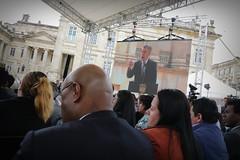 El ministro Guillermo Rivera rindió cuentas de la gestión de la cartera del Interior durante el Gobierno del presidente Juan Manuel Santos. (Ministerio del Interior Col) Tags: presidente santos palacio ministro guillermo rivera gobierno colombia