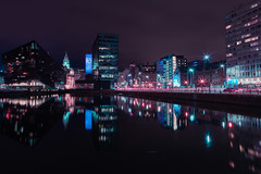 Mann Island, Liverpool (AlexStirrup) Tags: neon cyberpunk liverpool mann island merseyside night time