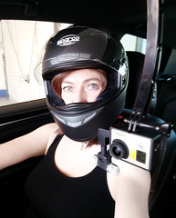 Girl Racer (Joanne (Hay Llamas!)) Tags: brunette gurl cute uk brit british britgirl joanne hayllamas trackday driving race helmet gopro