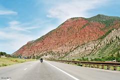 Red Mountainside on I-70 East of Eagle, Colorado (StevenM_61) Tags: landscape freeway interstatehighway motorway mountain colorado unitedstates