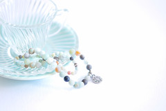 196/365: Not all treasure is silver and gold (judi may) Tags: 365the2018edition 3652018 day196365 15jul18 highkey stilllife cupandsaucer glass turquoise bracelets beads treasure soft softness negativespace canon5d macro tabletopphotography