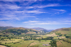 Blue Sky and Green Valley (Howie Mudge LRPS BPE1*) Tags: sky bluesky clouds whispyclouds valley green fields trees grass vista views landscape nature ngc natgeo nationalgeographic travel outside outdoors greatoutdoors bryncrug gwynedd wales cymru uk sony sonya7ii sonyalpha sonyalphagang sonyilce7m2 minoltarokkormc35mmf28 adaptedlens adaptedglass