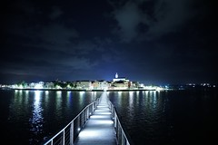 Catwalk (Mi-Fo-to) Tags: lesina lago lake paese town italia italy landscape night photography long exposure passerella pedonale catwalk passage puglia